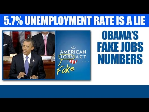 Obama Lies - Unemployment Rate Is Not At 5.7 Percent - Gallup CEO
