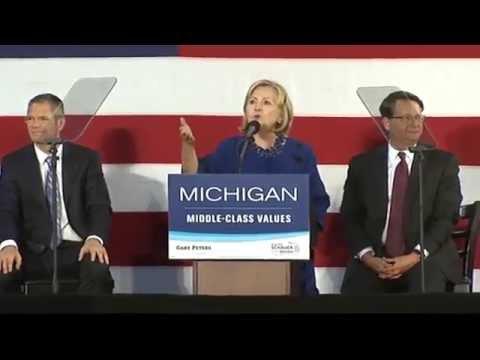 Hillary Clinton speaks at Oakland University in Rochester 10-16-14