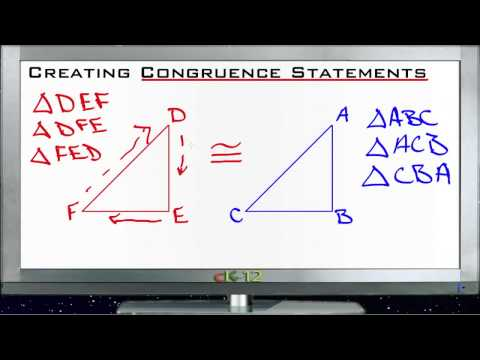 Creating Congruence Statements Principles - Basic
