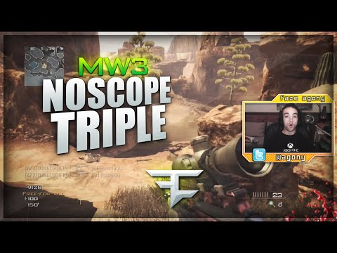 FaZe Agony: NOSCOPE TRIPLE!!! (MW3 Clips & Funny Moments)