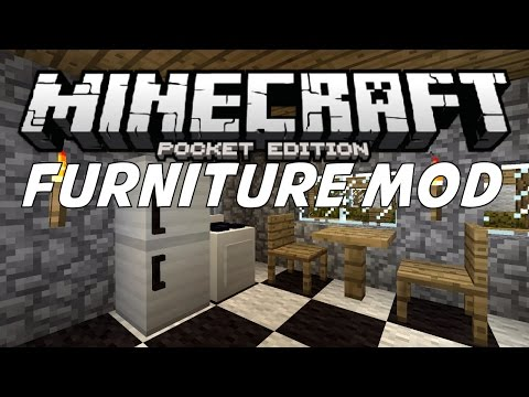 FURNITURE MOD IN MCPE!!! | Minecraft PE (Pocket Edition) Mods 0.11.0 / 0.11.1
