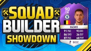 FIFA 17 SQUAD BUILDER SHOWDOWN!!! PLAYER OF THE MONTH HAZARD!!! Purple Hazard Squad Duel