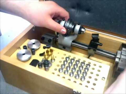 NEW WATCHMAKERS WATCH MAKING LATHE WITH MILLING ATTACHMENT VECTOR
