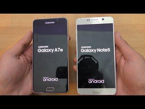 Samsung Galaxy A7 (2016) vs Galaxy Note 5 - Speed & Camera Test (4K)