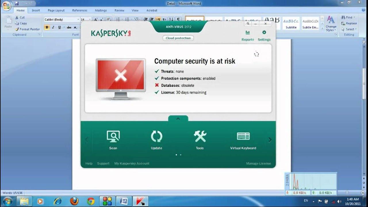 Kaspersky 2012 Antivirus Working Keys 1/28/12