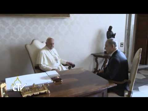 Pope Francis meets Israeli Prime Minister