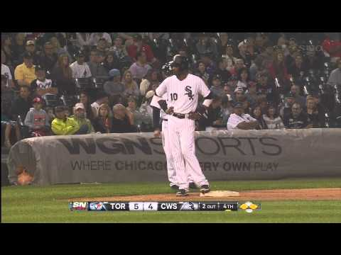 Adam Dunn 3 Run Home Run In The Bottom Of The 4th Inning. Toronto 5 Chicago 7. June 10th 2013. (HD)