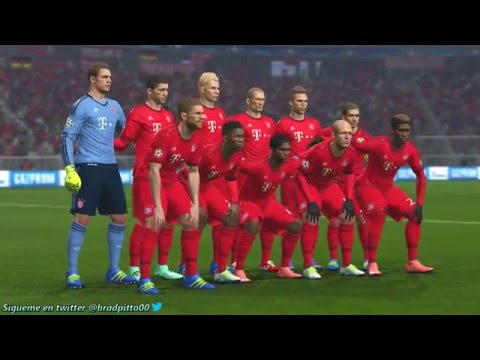 PES 2016 SIMULACIÓN Bayern Munich vs Atlético de Madrid - UEFA Champions League 2016