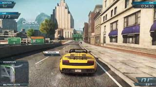 NEED FOR SPEED MOST WANTED 2012 LAMBORGHINI GALLARDO ALL RACES (MOST WANTED 9 AND 8 RACES)