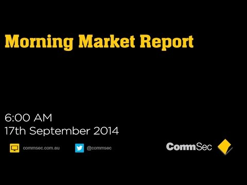 17th Sept 14, AM Report: Chinese stimulus plans helped lift US stocks & oil