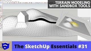 Terrain Modeling in SketchUp with Sandbox Tools - The SketchUp Essentials #31