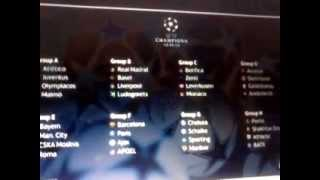 tirage au sort champions league 2014 / 2015
