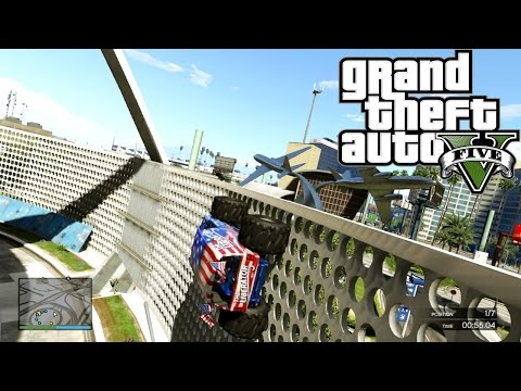 GTA 5 ONLINE ANTI GRAVITY - Liberator! ( Fun Custom Race ) GTA V MULTIPLAYER klip izle