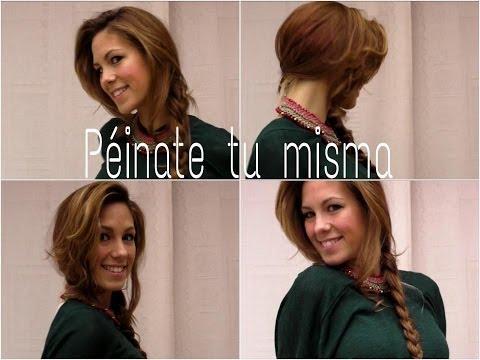 Peinado trenza lateral y rizos efecto natural || Sofi Look ;)