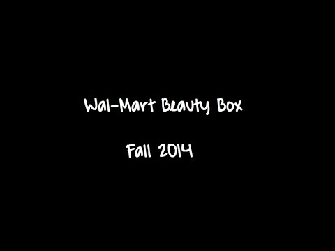 Wal-Mart Fall Beauty Box 2014 Unboxing