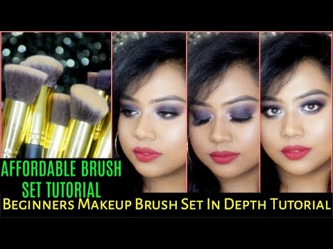 HOW TO USE MAKEUP BRUSHES FOR BEGINNERS IN HINDI | STEP BY STEP TUTORIAL | BEST AFFORDABLE BRUSHES |