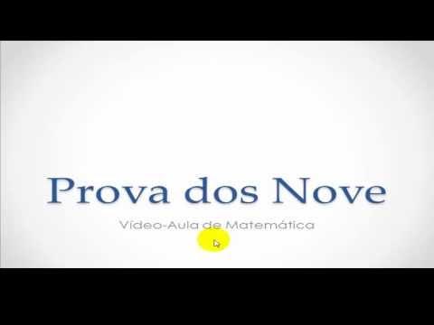 Vídeo-Aula de Matemática - Prova dos Nove