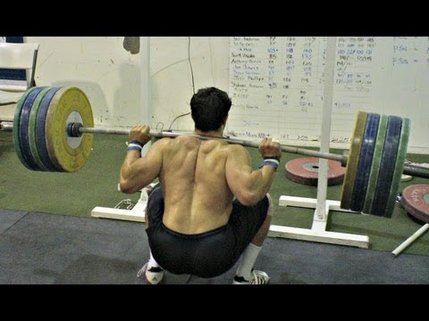 Heavy Singles and Back Squats on the CNIC Image 1