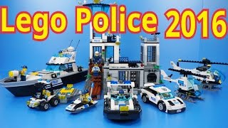 Lego Police 2016 : 60126 - 60131 (All) Time Lapse Stopmotion Build