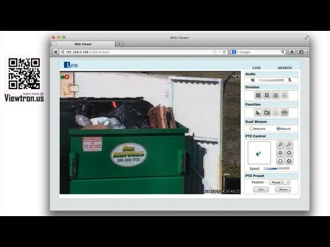 Mac Compatible PTZ Camera Control Using Viewtron Surveillance DVR