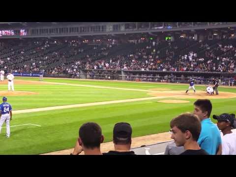 Adam Dunn Pitches for White Sox