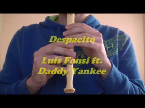 Despacito - Luis Fonsi ft. Daddy Yankee con flauta dulce (notas) #1