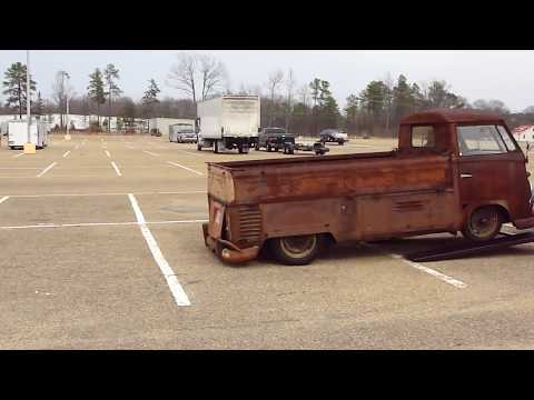 OMG! BAD ASS '59 VW TRUCK * RUSTY RAT ROD SLAMMED *