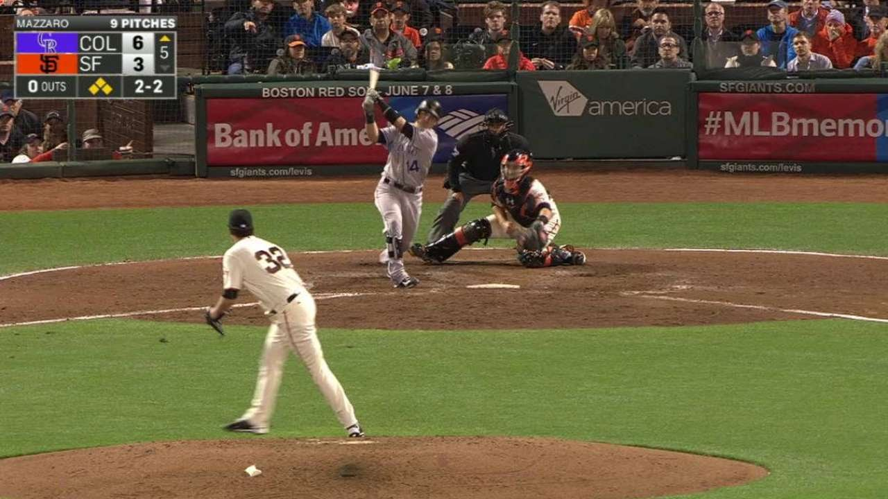 COL@SF: Wolters drives in two runs with a double
