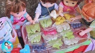 ละครสั้น เจ๊เปิดร้านขายผลไม้รถเข็น ของเล่นPlay Doh ของเล่นทำอาหาร ตุ๊กตาเมลจัง