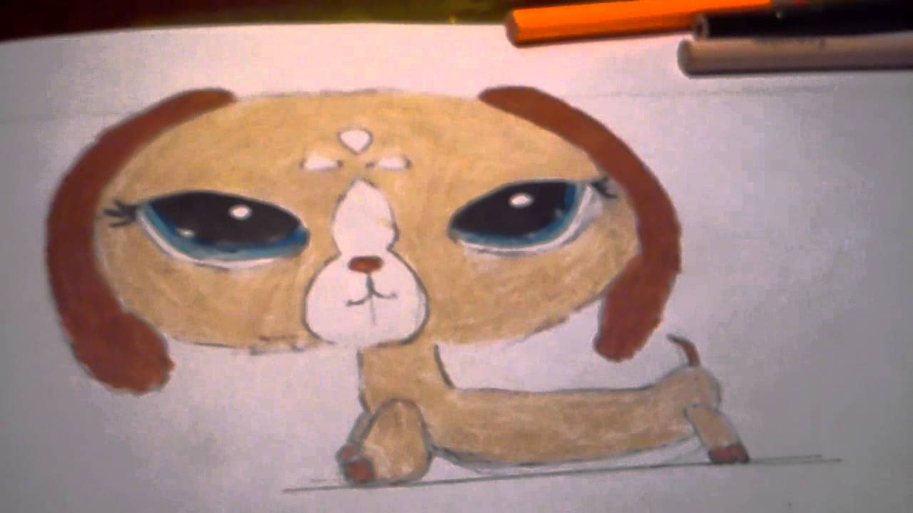Lps Dachshund Drawing - YouTube
