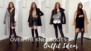 HOW TO STYLE OVER THE KNEE BOOTS // Autumn Outfit Ideas