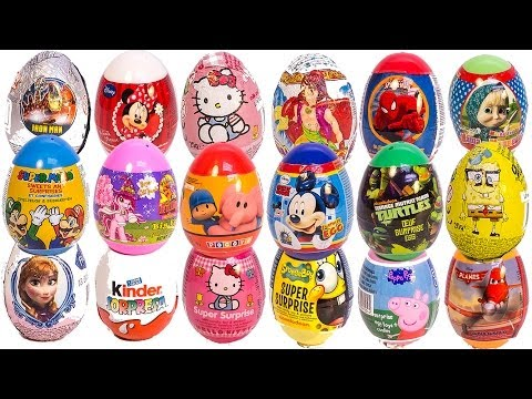 SURPRISE EGGS PEPPA PIG MICKEY MOUSE MINNIE MOUSE Маша и Медведь POC