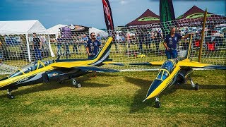 GIANT 2X 110KG RC SCALE MODEL AIRPLANES ALPHA JETS | TEAM RED BULL | MODELLTAGE THÜRINGEN 2018