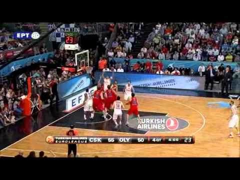 olympiakos vs cska moscow 62-61 2012 euroleague final