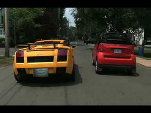 Smart VS Lamborghini