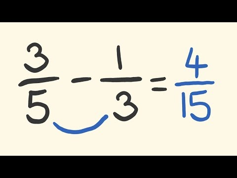 Download Subtract Fractions with Different Demoninators trick - mentally minus fractions instantly! Mp4 baru