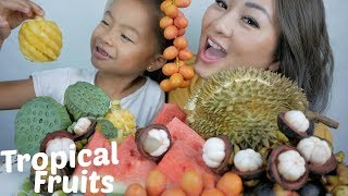 Tropical Fruits Mukbang | N.E Let's Eat