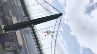 GTA 5 DARE DEVIL #5 FLYING A PLANE THROUGH THE WIRES ON A BRIDGE EPIC STUNT!