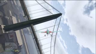 GTA 5 DARE DEVIL #5 FLYING A PLANE THROUGH THE WIRES ON A BRIDGE EPIC STUNT!