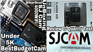 Best budget action cam under 5k||SJ Cam unboxing & quality test||by biker soul