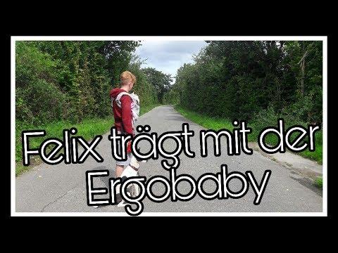 Vlog   Felix trägt Mel in der Ergobaby Trage    Reborn Baby Deutsch