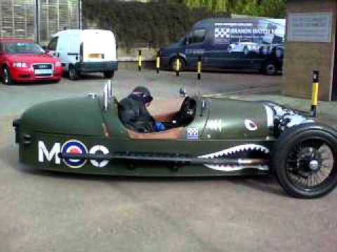 New Morgan Three Wheeler Spitfire at Brands Hatch Morgan