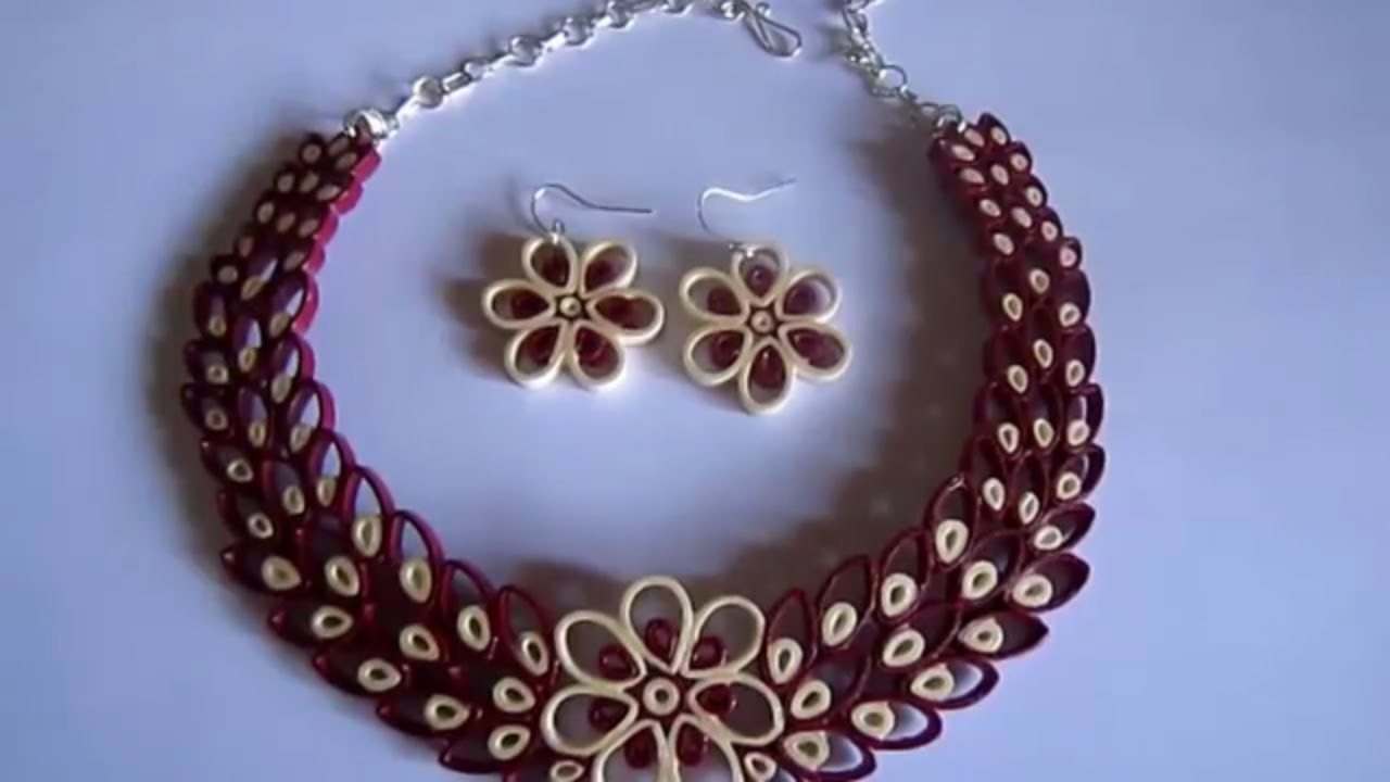 Make Quilling Jewelry Paper Quilling Jewelry Set