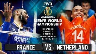 France vs. Netherlands   Volleyball Highlights   Men