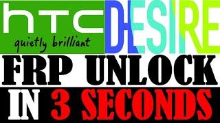 HTC DESIRE FRP UNLOCK IN 3 SECONDS WITH EASY METHOD 100000% SUCCESS