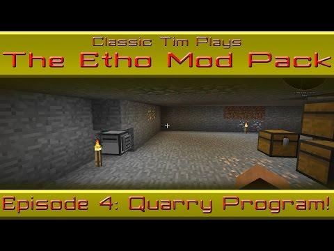 Etho Mod Pack - Episode 4: Quarry Mining Turtle Program
