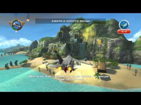 Аэротачки Disney Planes Launcher Эхо Авианосец против вулкана
