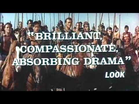 Spartacus 1960 re-issue film trailer