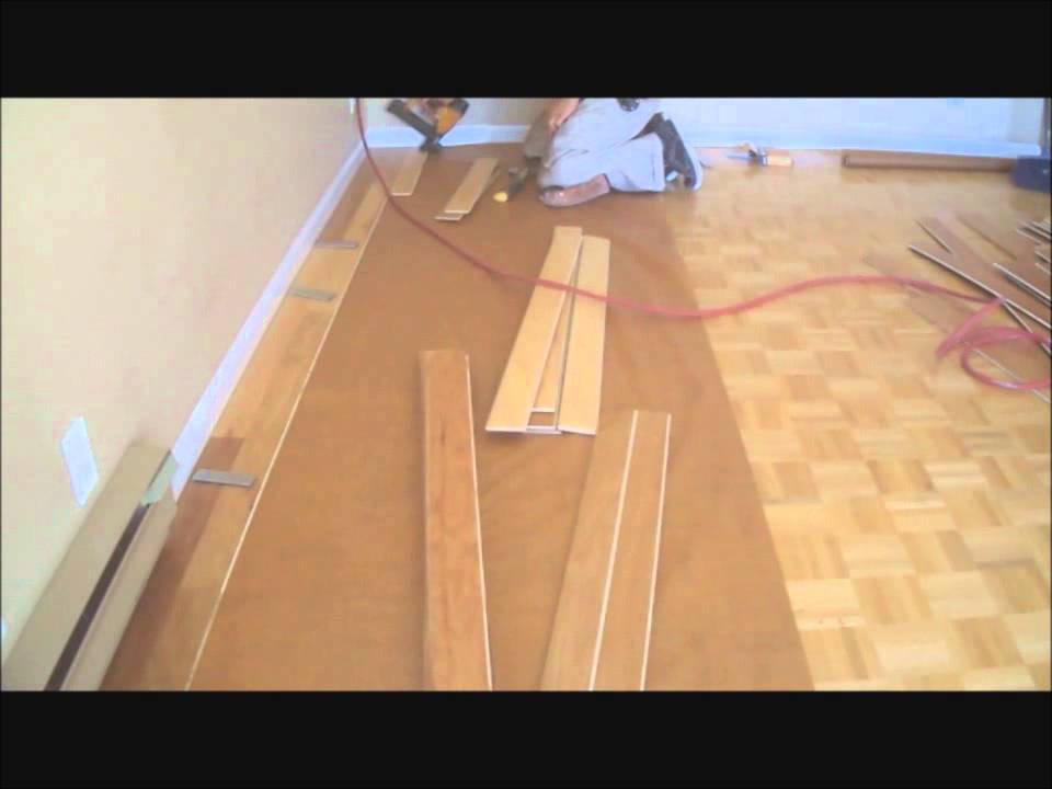Installing hardwood floors over existing hardwood floors for Floor to floor