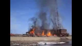 Drilling rig on fire -  Drilling accident